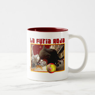 La Furia Roja Raging Bull Futbol Champions 2008 Two-Tone Mug