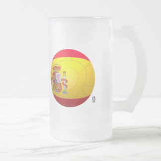 La Furia Roja – Spain Fotball Frosted Glass Beer Mug