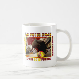 La Furia Roja Spanish Bull Soccer Futbol Coffee Mug