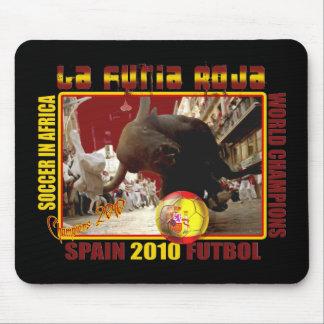La Furia Roja Spanish Bull Soccer Futbol Mouse Mat