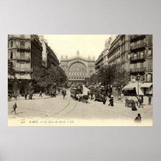 La Gare du Nord Paris, France c1905 Vintage Poster