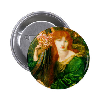 La Ghirlandata Button by Dante Gabriel Rossetti