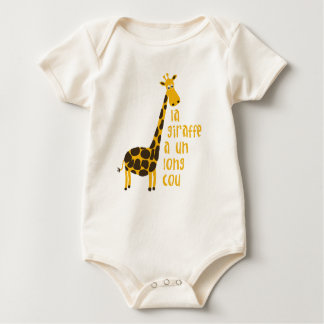 la giraffe a un long cou infant baby bodysuit
