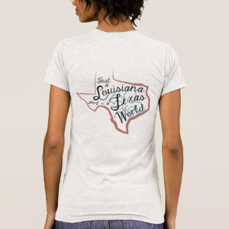 LA Girl in a TX World T-Shirt