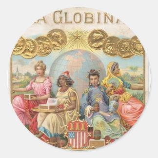 La Globina Cigar Label Round Sticker