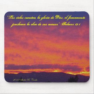 La Gloria de Dios Sunset Angel Mousepad