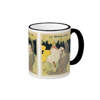 La Goulue, Vintage Art Nouveau by Toulouse Lautrec Ringer Mug
