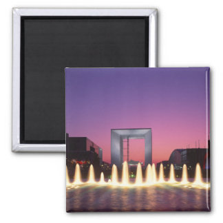 La Grande Arche, La Defense, Paris, France Square Magnet
