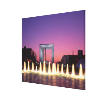 La Grande Arche, La Defense, Paris, France Stretched Canvas Print