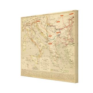 La Grece et l'Italie, 306 a 410, ap JC Canvas Print