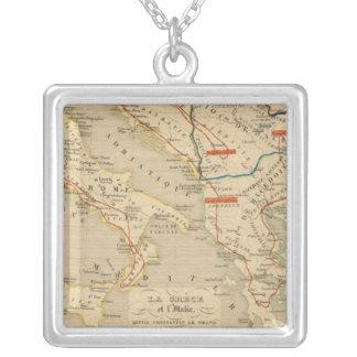La Grece et l'Italie, 306 a 410, ap JC Silver Plated Necklace