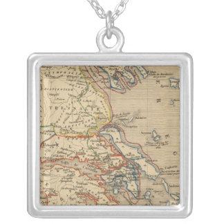 La Grece, les cotes de l'Asie Mineure Silver Plated Necklace