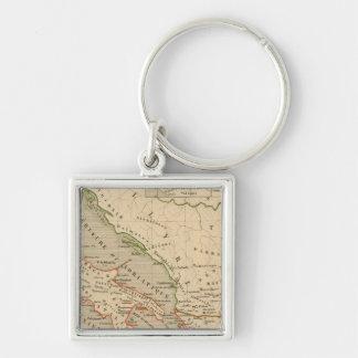 La Grece, l'Italie, 1190 a 504 av JC Silver-Colored Square Key Ring
