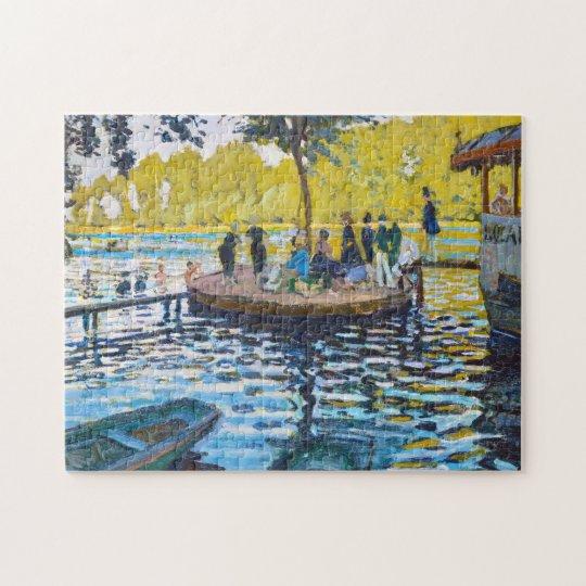 La Grenouillere Claude Monet fine art painting Jigsaw