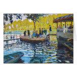 La Grenouillere Claude Monet fine art painting Note Card