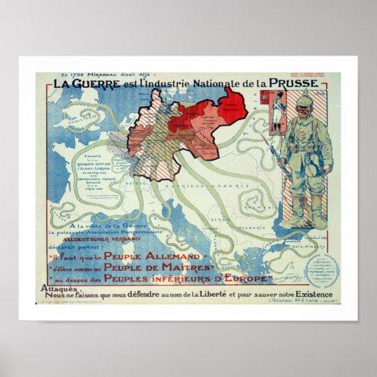 La Guerre est l'Industrie Nationale de la Prusse Poster