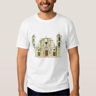 La Habana Cathedral. Cuba Tshirts