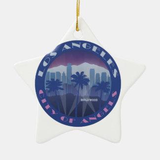 LA Hollywood cool Ceramic Star Decoration