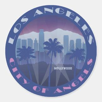 LA Hollywood cool Classic Round Sticker