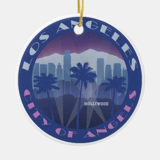 LA Hollywood cool Round Ceramic Decoration