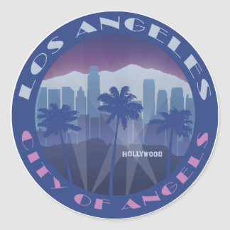 LA Hollywood cool Round Sticker