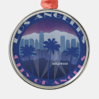 LA Hollywood cool Silver-Colored Round Decoration
