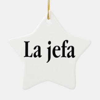 La jefa christmas ornament