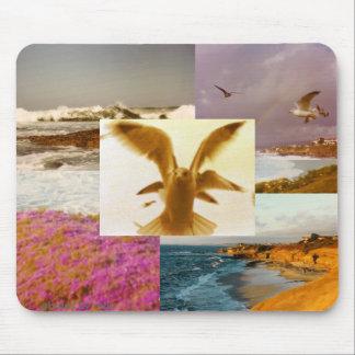 La Jolla CA Beaches photo collage mousepad