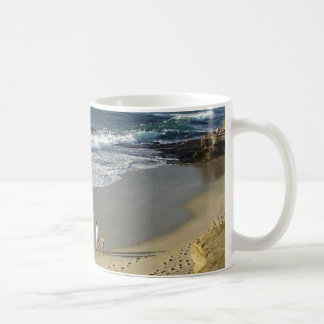 La Jolla Cove Ocean Beach Sand Waves Coffee Mug