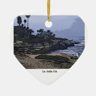 La Jolla Cove View Christmas Ornament