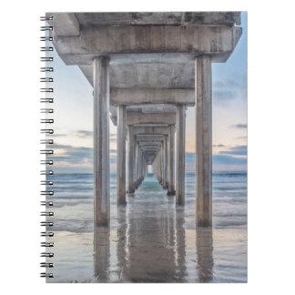 La Jolla, Scripps Pier Spiral Note Book