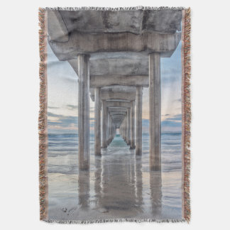 La Jolla, Scripps Pier Throw Blanket