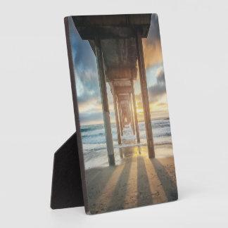 La Jolla, Scripps'S Pier At Sunset | San Diego Plaque