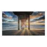 La Jolla, Scripps'S Pier At Sunset | San Diego Poster