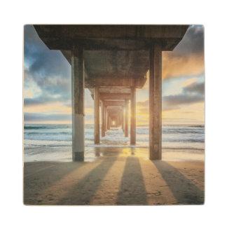 La Jolla, Scripps'S Pier At Sunset | San Diego Wood Coaster