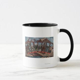 La Junta, Colorado - Large Letter Scenes Mug