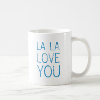 LA LA LOVE YOU BASIC WHITE MUG