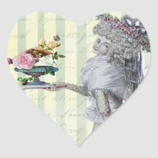 La Lettre D'amour Heart Sticker