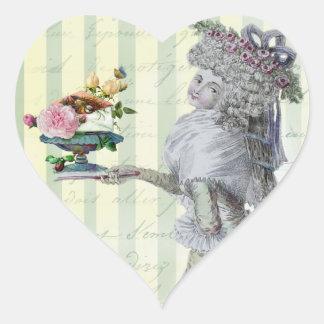 La Lettre D'amour Heart Sticker