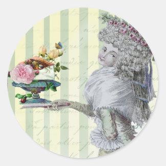 La Lettre D'amour Classic Round Sticker