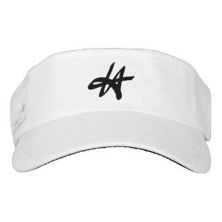 LA logo - Los Angeles graffiti sport sun visor cap