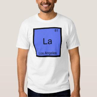 La - Los Angeles City Chemistry Element Symbol Tee