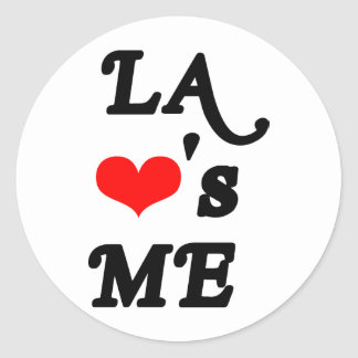 LA Loves me - Los angeles Classic Round Sticker