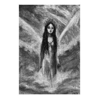 La Luna Dark Angel Fairy Original Art Photo Print