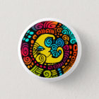 La Luna / Moon whimsical mylar 1 1/4 sized button
