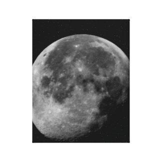 La Luna Noir Stretched Canvas Print