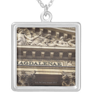 La Madeleine Church in Paris, France Silver Plated Necklace