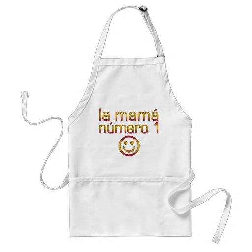 La Mamá Número 1 ( Number 1 Mum in Spanish ) Standard Apron