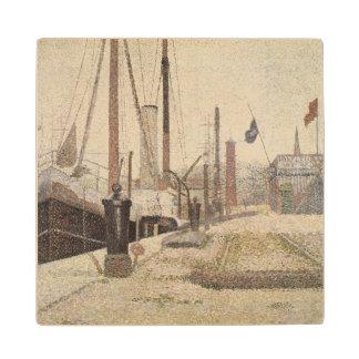 La Maria at Honfleur, 1886 Wood Coaster