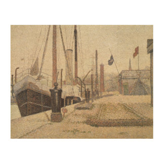 La Maria at Honfleur, 1886 Wood Print